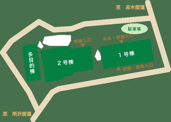 デイケア入口 西武新宿線 久米川 送迎バス 精神科 メンタル 病院 統合失調症 認知症 うつ病 神経症